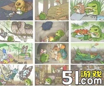 旅行青蛙蛙蛙合影照片汇总 动物合影照片有哪些小动物