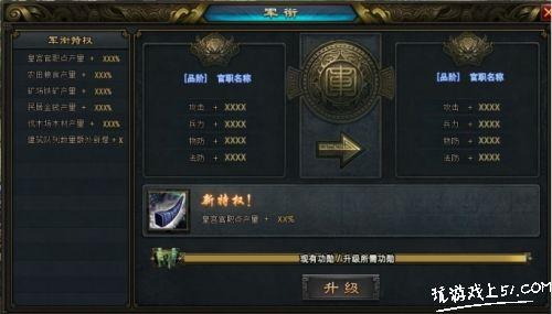 烽火燎原軍銜系統玩法一覽